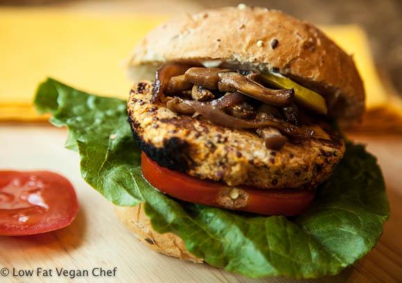 vegansk hamburger oppskrift